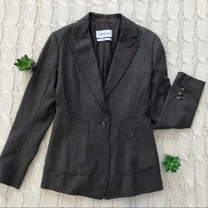 {YSL} Structured Notch Lapel Single Button Blazer